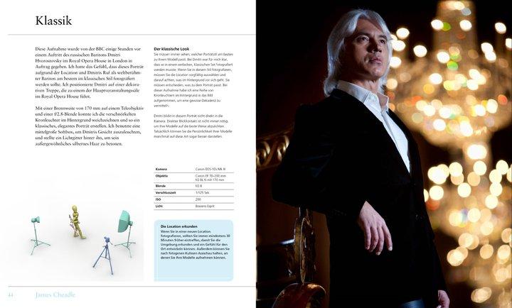Eine Doppelseite aus dem Buch Porträtfotografie Styleguide, Thema Fashion.