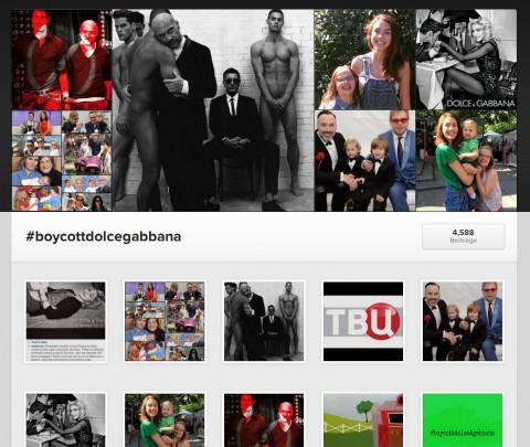 Die eine Seite des Kampfes auf Instagram.